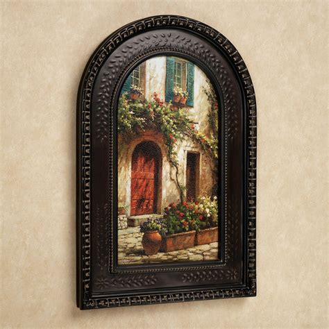 framed wall door italian arched framed wall