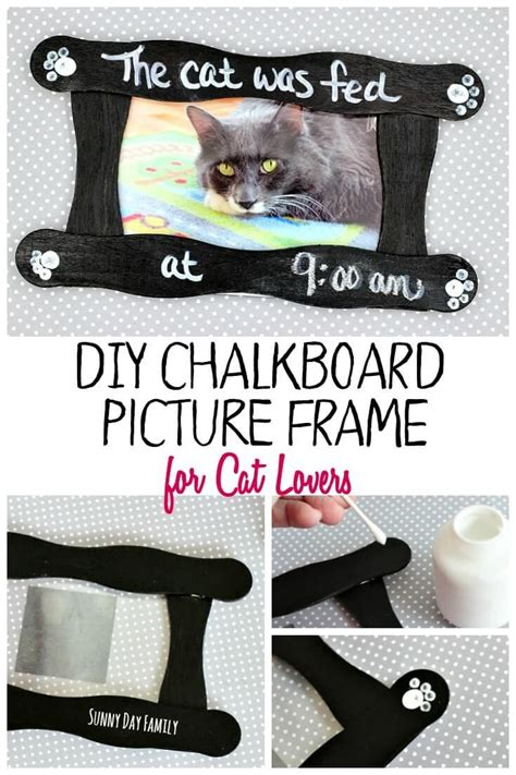 diy chalkboard picture frame diy chalkboard picture frame for cat chalkboard