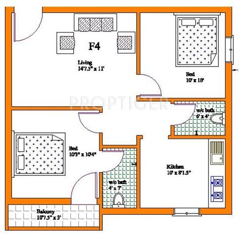 plan 2 bhk plan for bungalow studio design gallery