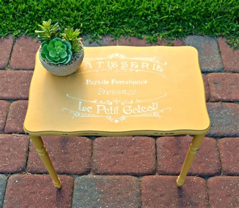 yellow chalkboard paint uk yellow stenciled table makeover diy furniture makeovers