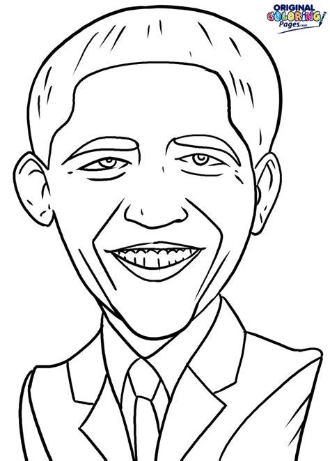 barack obama coloring page getcoloringpagescom sketch