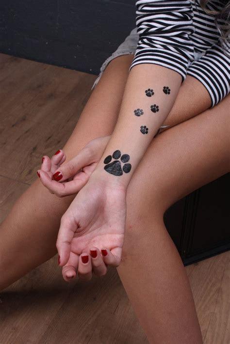 temporary tattoos print paw print temporary