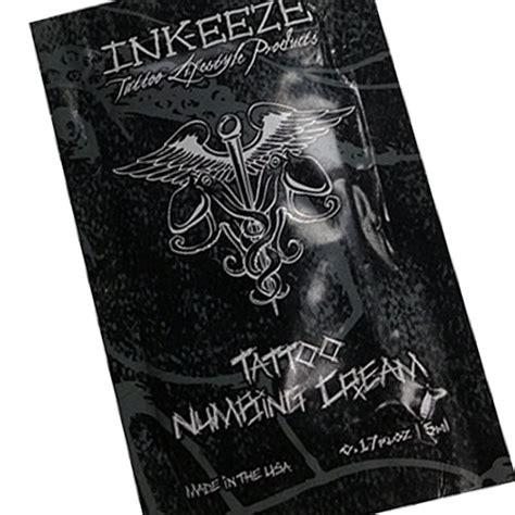 Ink Eeze Tattoo Numbing Cream | ink eeze numbing cream packet 5ml