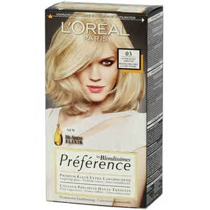loreal preference colors loreal preference blondissimes 03 light ash