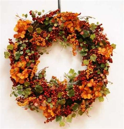 Handmade Fall Decorations - handmade door wreaths offering great craft ideas and cheap