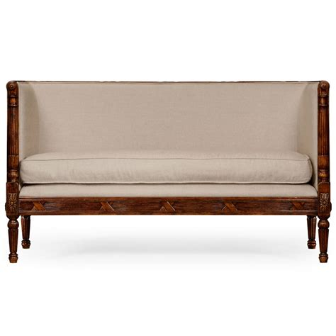 upholstered settee loveseat french upholstered settee sofa swanky interiors