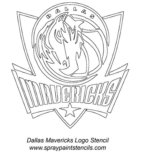 dallas mavericks free colouring pages