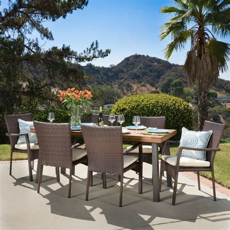 Patio Dining Sets - castlelake 7 outdoor dining set wood table w