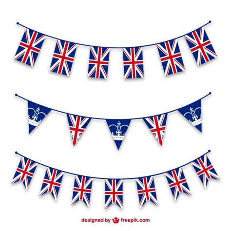template of union bunting patriotic union jubilee bunting templates vector free