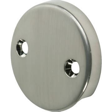 overflow plate bathtub bathtub overflow plate 2 hole brushed nickel finish hd