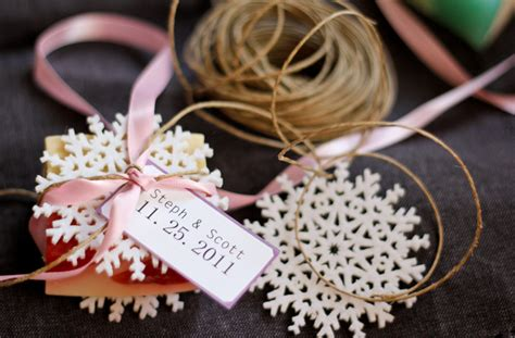 Handmade Wedding Favours - lush handmade bath soaps as winter wedding favours