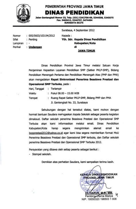 Contoh Notulen Rapat Osis Dengan Kop Surat by 37 Contoh Surat Undangan Osis Perusahaan Sekolah Rt