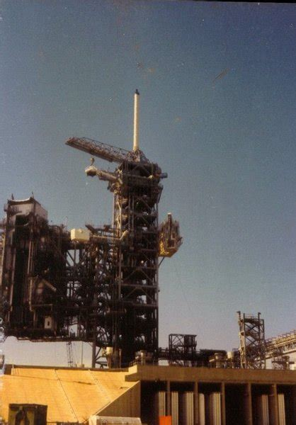 fall rubber sts space shuttle launch pad 39a with challenger sts 6