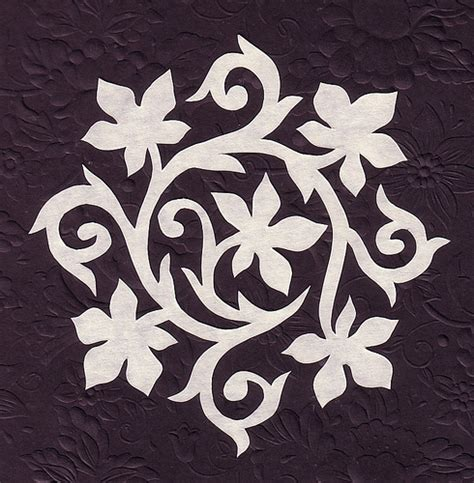 paper flower cutting pattern vine flower stenciling and squares