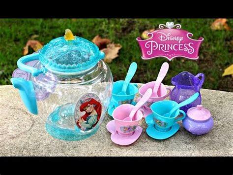 disney princess ariel tea set toy youtube