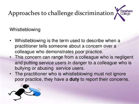 describe how to challenge discrimination in schools unit hsc m1 equality week 3