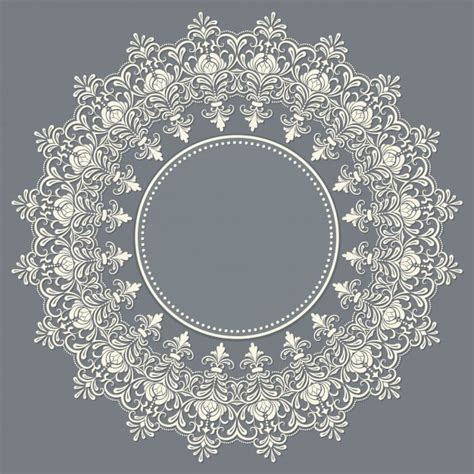 lace pattern freepik vector ornamental round lace with damask and arabesque