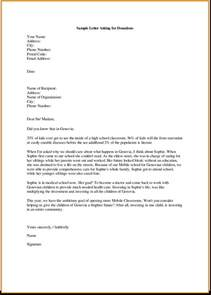 how to write a business letter asking for donations