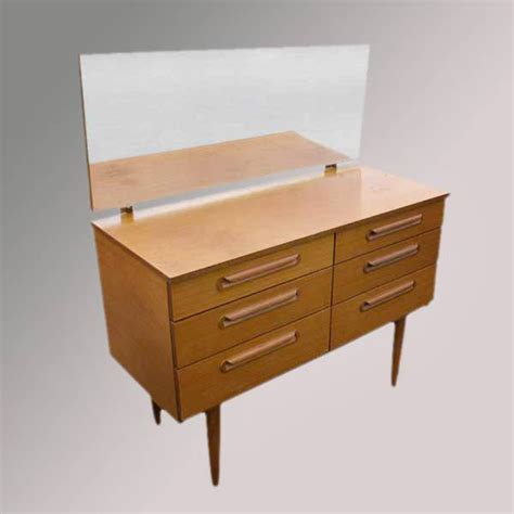 Retro Vanity Table Vintage Wood Dressing Table Vanity Mirror Ebay