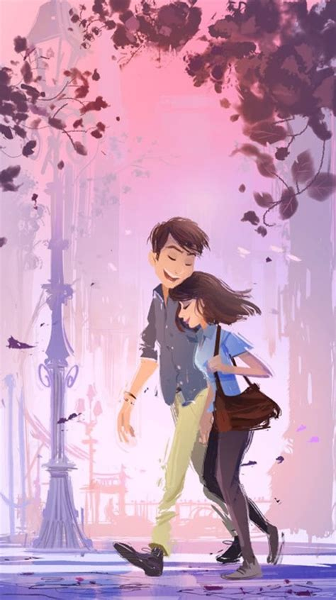 cute cartoon couple love images hd