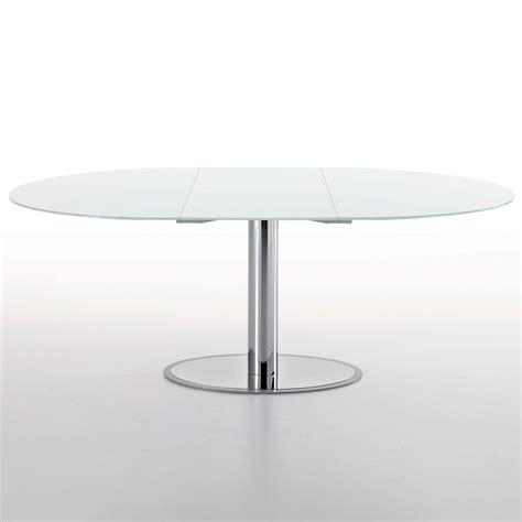 glass tavoli tavolo rotondo allungabile glass arredaclick