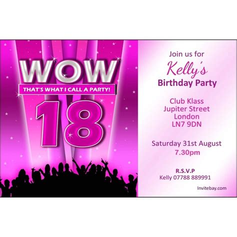18th birthday party invitations home 187 personalised girl