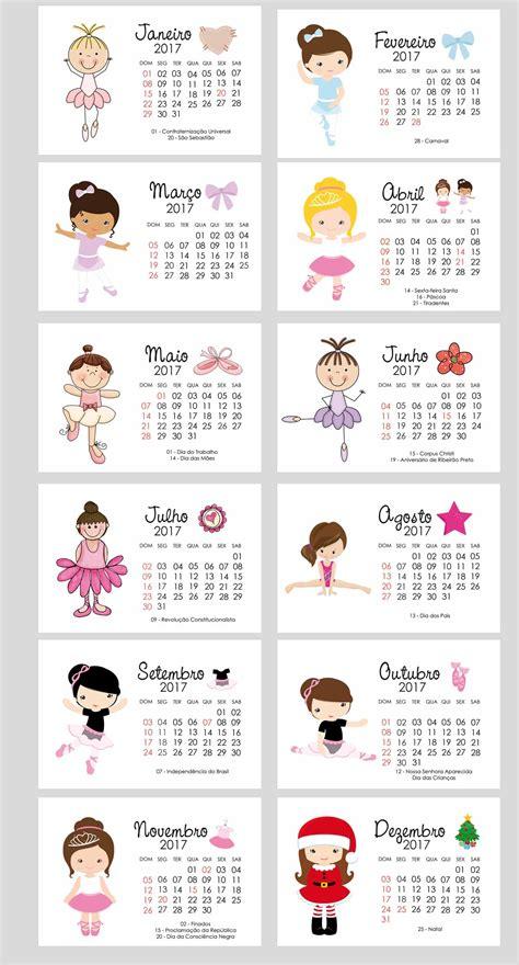 Calendario De 2017 Calend 225 De Mesa 2017 Ballet L 233 A Foto E Arte Elo7