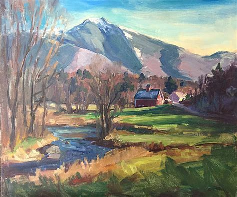 eric tobin painting early snow  mt mansfield vt
