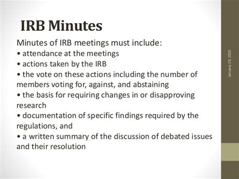 irb minutes template ethical committee principal investigator