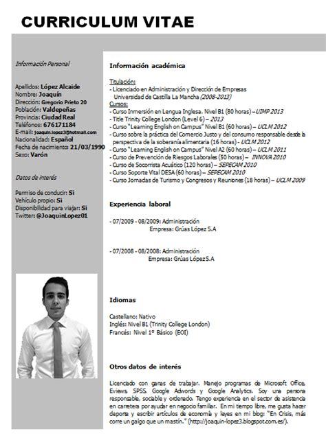 Modelo De Curriculum Vitae Profesional 2014 En Crisis M 225 S Corre Un Galgo Que Un Mast 237 N Curriculum