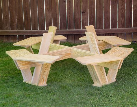octagon picnic tables treated pine kid s octagon picnic table