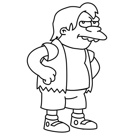 simpsons krusty coloring pages
