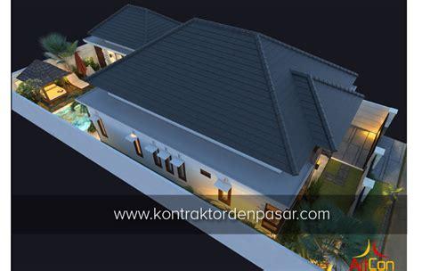 Cp Mk Lahan Ia M desain rumah 1 lantai luas 215 m2 4 kamar bu angelia