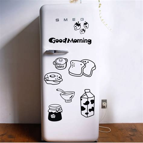 Stiker Kulkas Flowers by Morning Breakfast Combination Wall Decals Warm Family