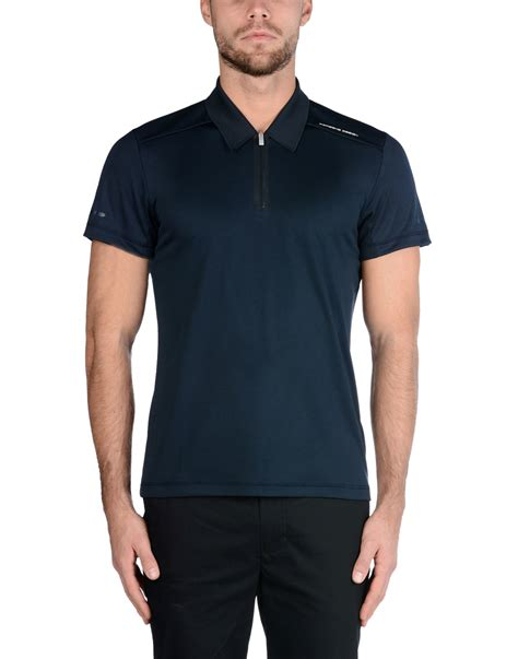 porsche clothing porsche design polo shirt in blue for men lyst