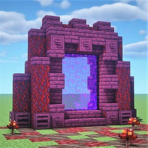nether portal design   minecraft architecture