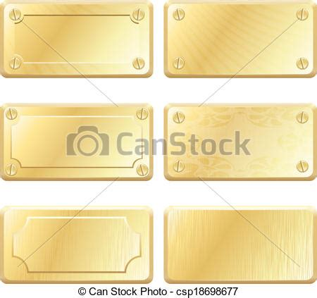 Etiketten Gold by Gold Metall Etiketten Vektor Nameplates