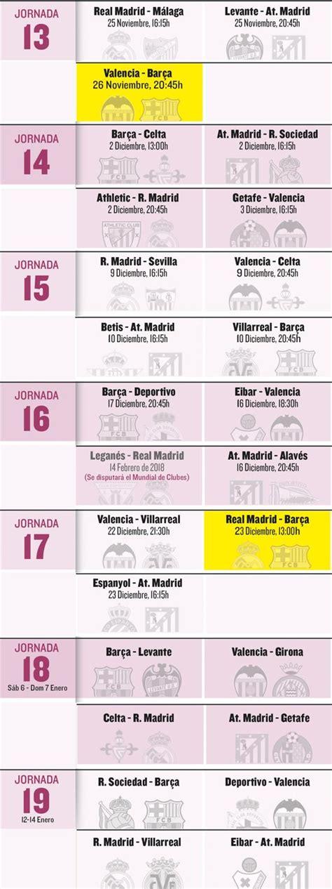 K En El Calendario El Calendario De Bar 231 A Valencia Real Madrid Y Atl 233 Tico