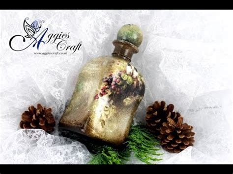 tutorial decoupage botol decoupage tutorial vintage bottle diy tutorial youtube