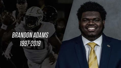 georgia tech senior defensive tackle brandon adams dies