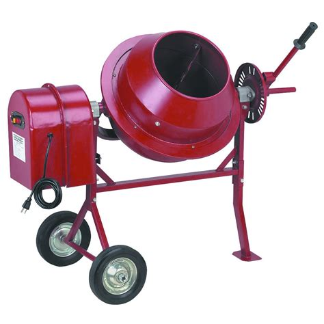 portable electric cement mixer 1 1 4 cubic ft