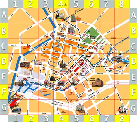 map  manchester city centre hotels