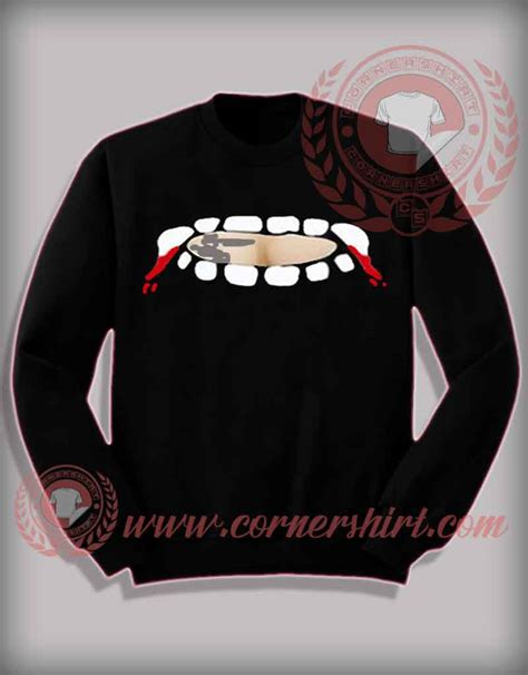 fang sweater vire fang teeth out sweatshirt shirts for