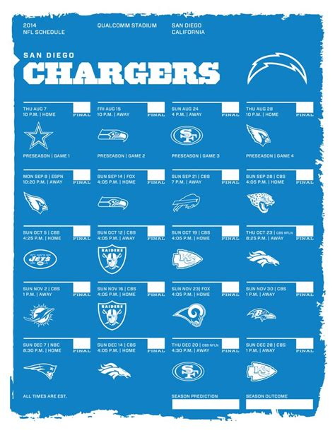 san diego chargers football schedule 2014 17 best images about go bolts on football san