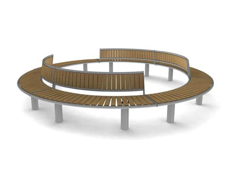 circle bench horizon curved seat bench combination adaptable seating