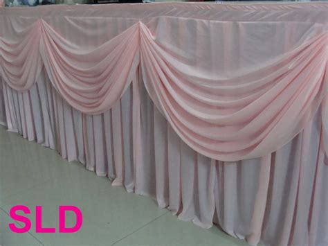 banquet table skirts 5pcs lot 13ft 29inch pink silk banquet table skirting