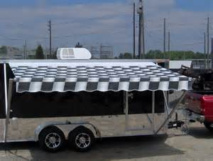 Window Awnings For Sale 7x16 Enclosed Motorcycle Cargo Trailer A C Unit W Awning