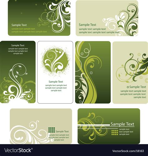 Royalty Free Word Business Card Templates by Business Card Templates Royalty Free Vector Image