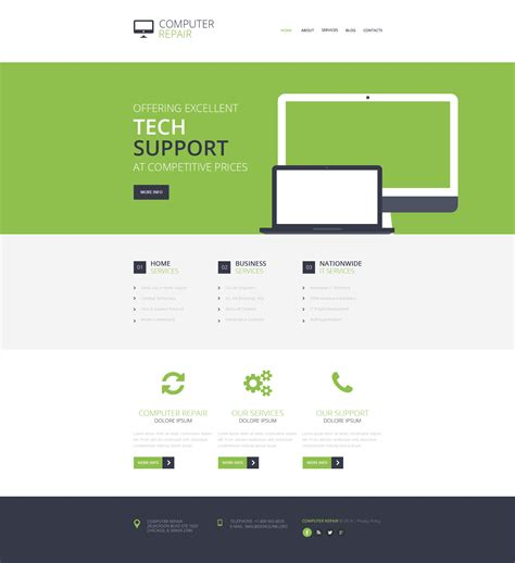 Computer Repair Responsive Website Template 48166 Computer Repair Template