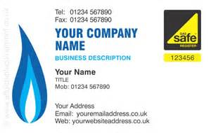 gas cards for small businesses gas safe gas safe business card design ref 112